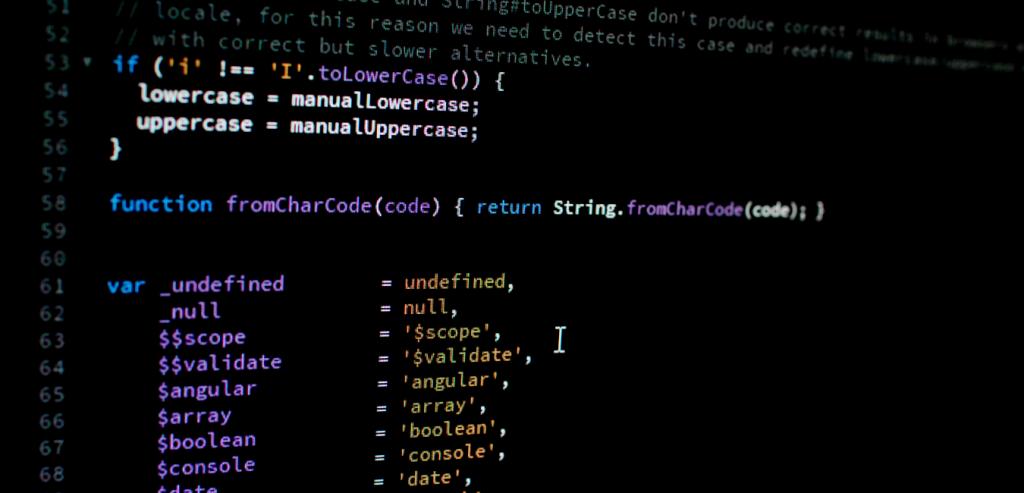 código de desenvolvimento de app